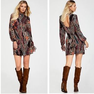 NWT Free People All Dolled Up Mini Dress